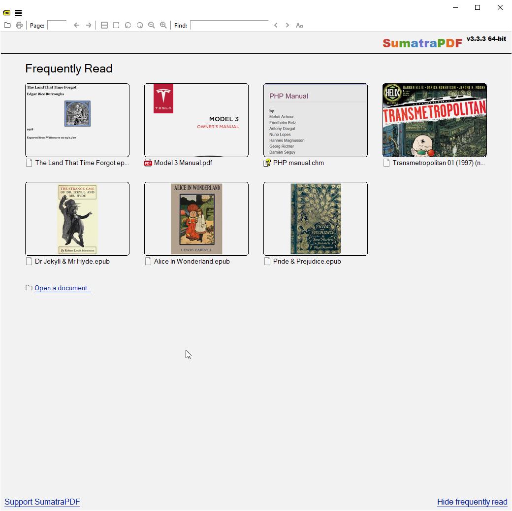 PC端免费阅读器,支持PDF,ePub,MOBI,CHM,XPS,CBR等众多格式